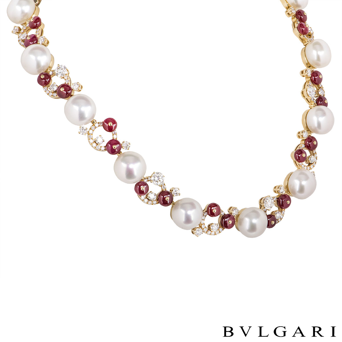 Bvlgari Yellow Gold Diamond And Multi-Gem Necklace